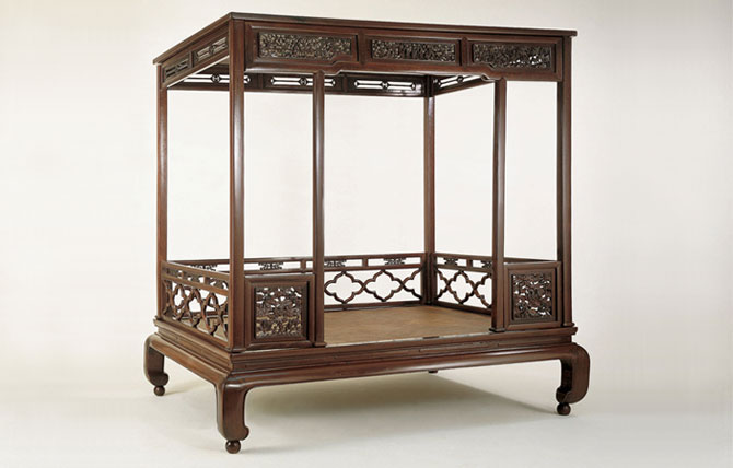 Ming Dynasty Huanghuali Wood Couch Bed With High Railings ...
